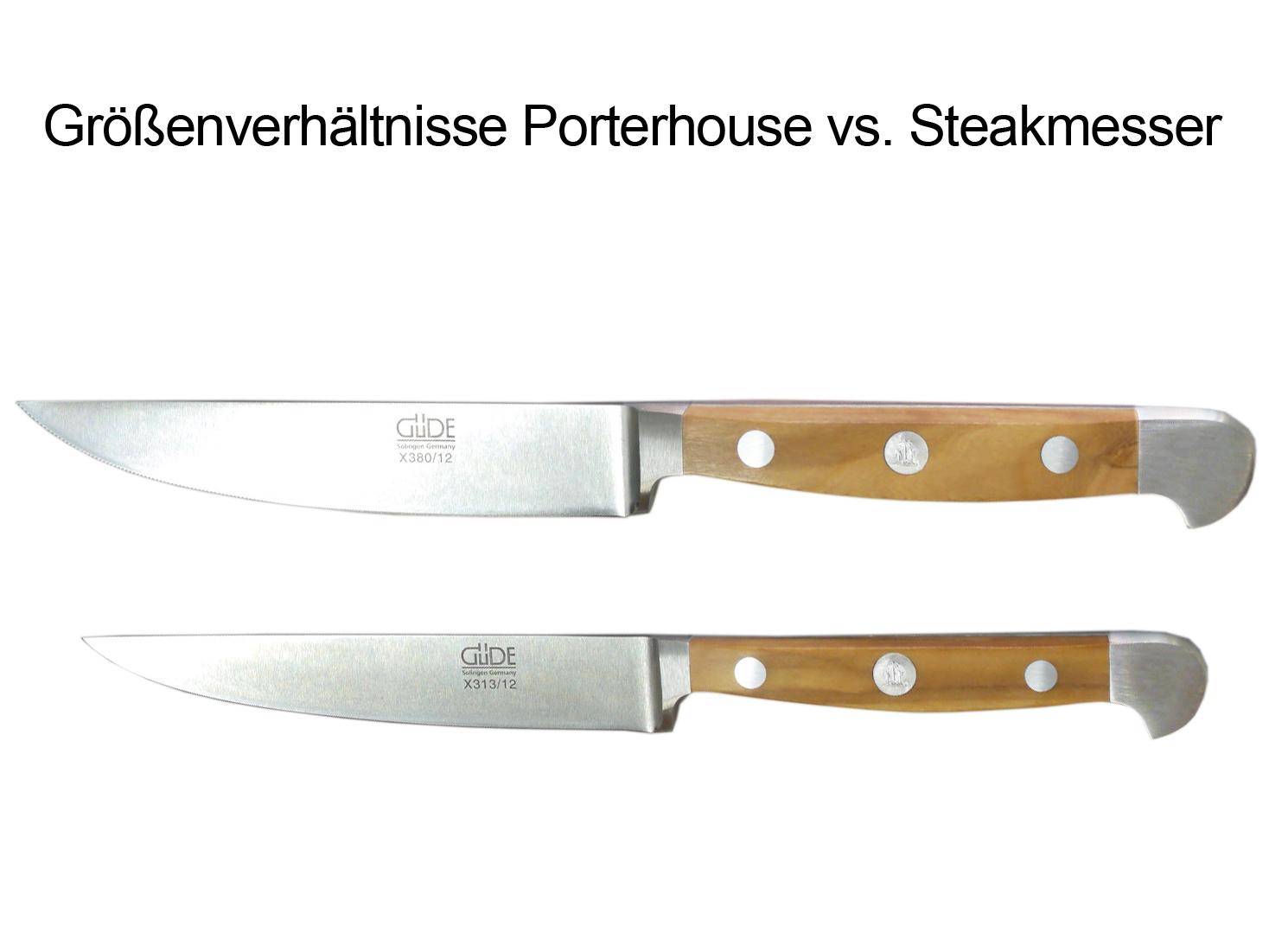 Güde Alpha Olive Porterhouse-Steakmesser Solingen X380//12-12 cm