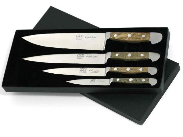 Güde Alpha Faßeiche Messerset 4-E000 mit 4 Messern